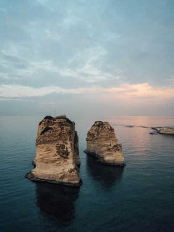 Raouche Rocks in Beirut Lebanon