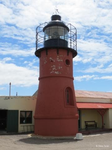 Red lighthouse at Peninsula Valdes, Argentina Faro Punto Delgada