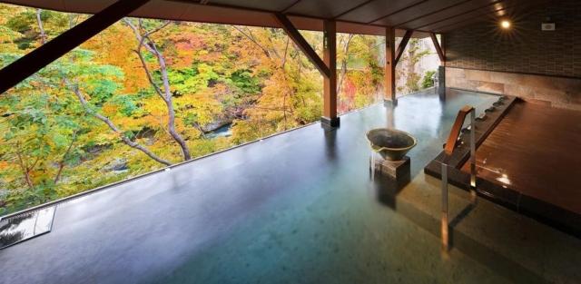 Ryokan Nanaeyae in Nikko with autumn colors