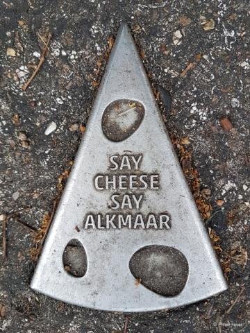 Say Cheese Say Alkmaar street sign