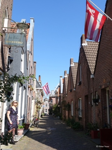 Sint Jacobstraat with Alkmaar flags out