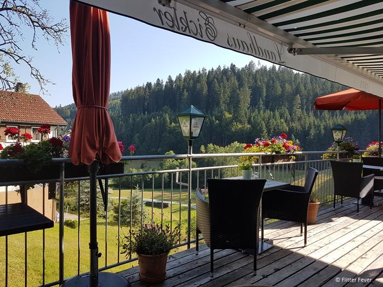 Terrace view at Landhaus Eickler in Baiersbronn