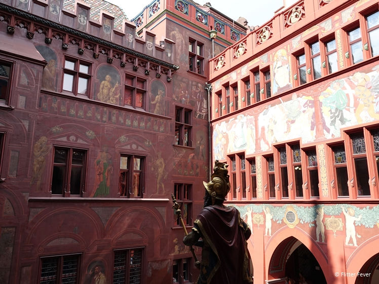 The Basel Town Hall is more than 500 years old and full of wall paintings