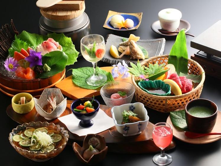 Traditional Japanese meal at Hotel Fuki no Mori