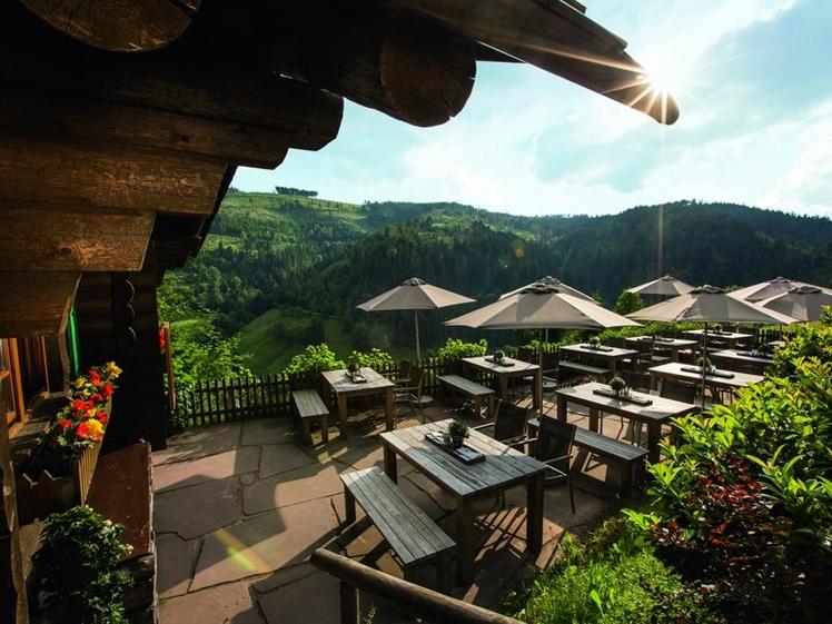 Traube Tonbach terrace view