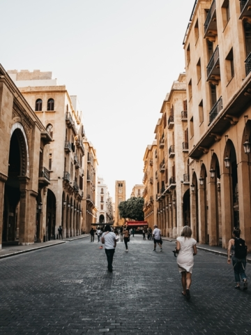 Walking the streets of downtown Beirut