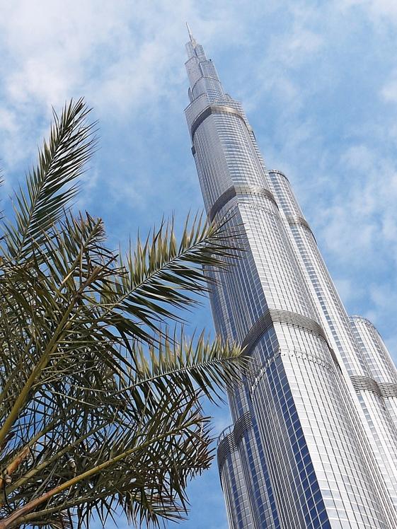 Burj Khalifa tall building Dubai