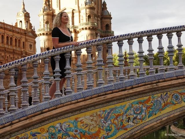 Colorful bridge Plaza de Espana Seville