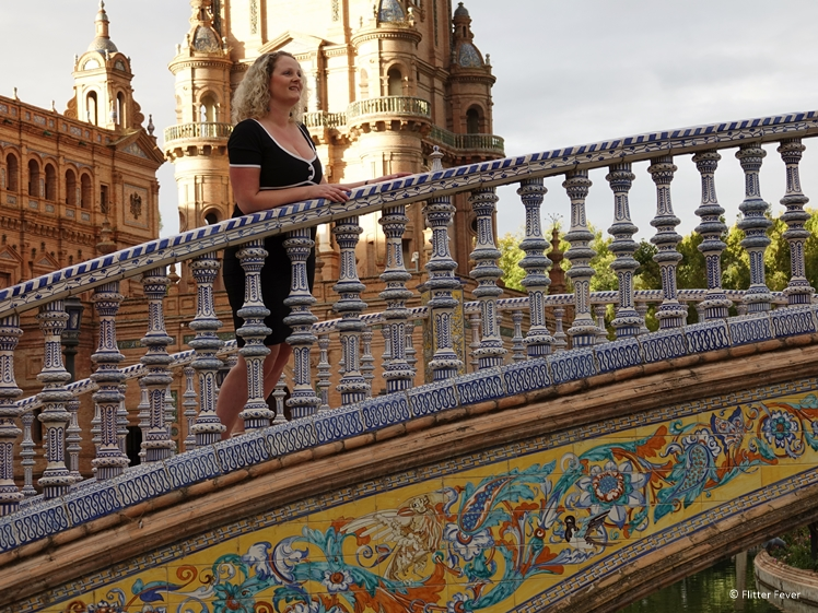 Colorful bridge Plaza de Espana Seville