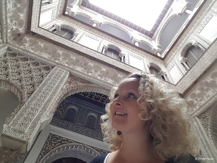 Had to take a selfie at this beautiful courtyard inside Real Alcazar Seville
