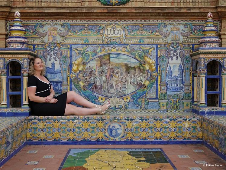 Lugo mosaic bench at Plaza de Espana Sevilla