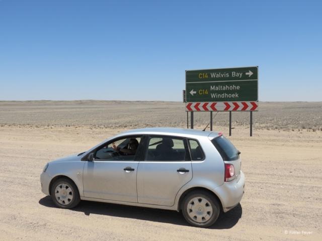 On our way from Swakopmund to Sossusvlei