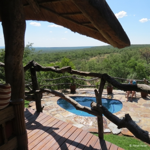 Our beautiful tatched house with pool and view Ants Hill Ants Nest Waterberg South Africa