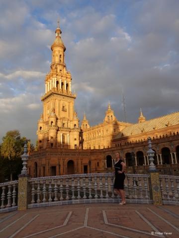 Plaza de espana at sunset Seville