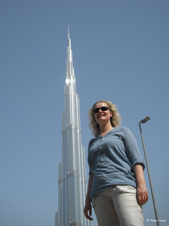 Right next to the Burj Khalifa in Dubai