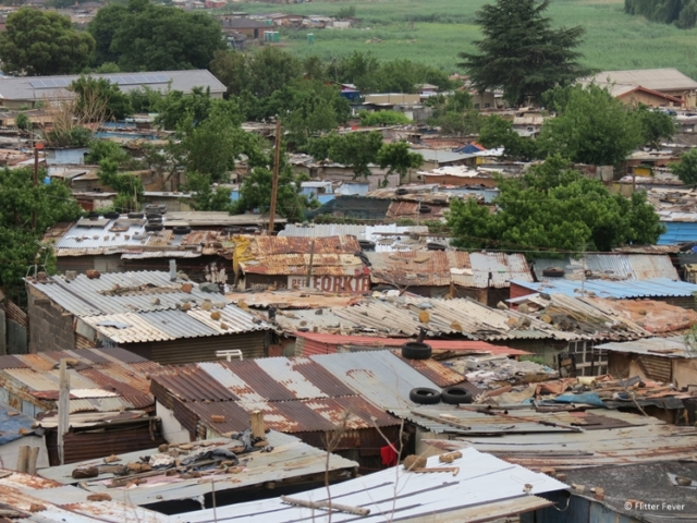 Roofs of Soweto township houses