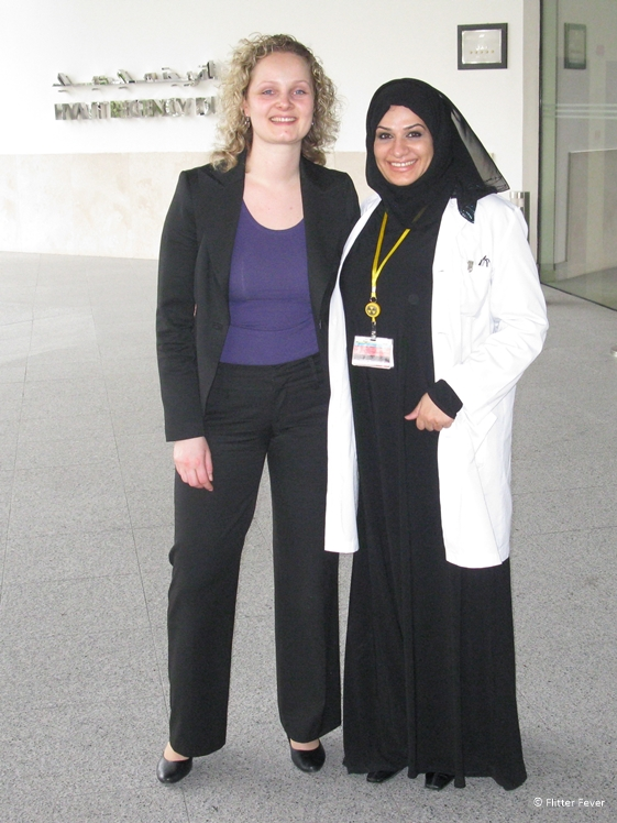 Dr Sarah and I at the Dubai Medical Center back in 2011