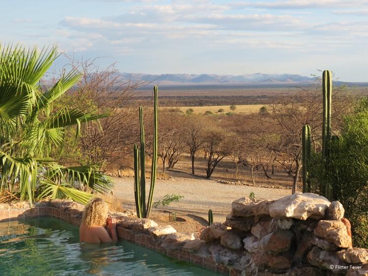 Sasa Safari Camp view from pool Outjo