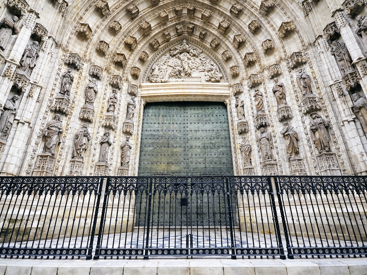 Seville Cathedral side door