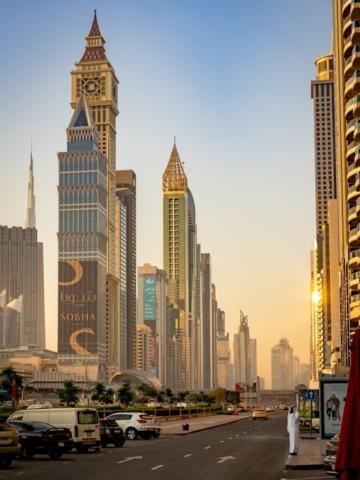 Sheik Zayed Rd in Dubai