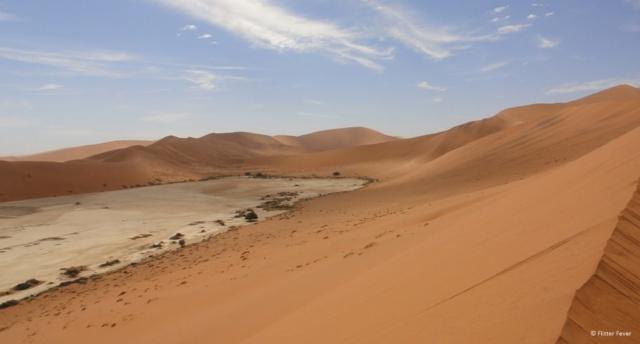 Sossusvlei dunes in Namibia