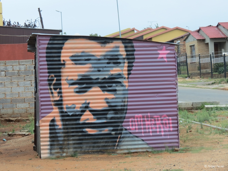 Street art in Soweto township