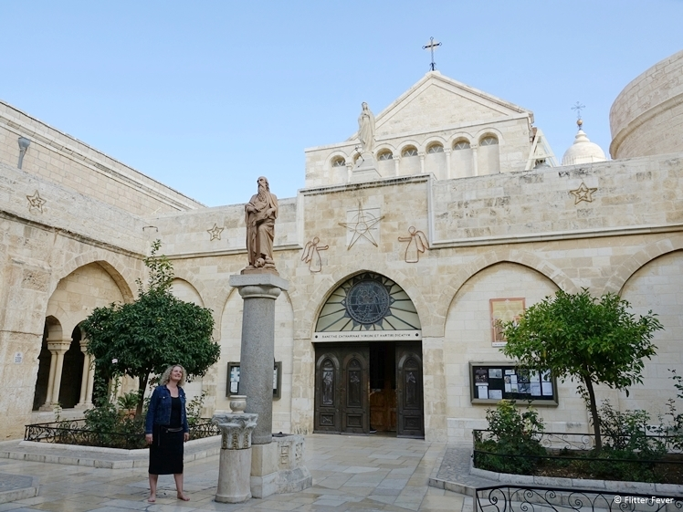 Courtyard of the Church of Nativity in Bethlehem Palestina