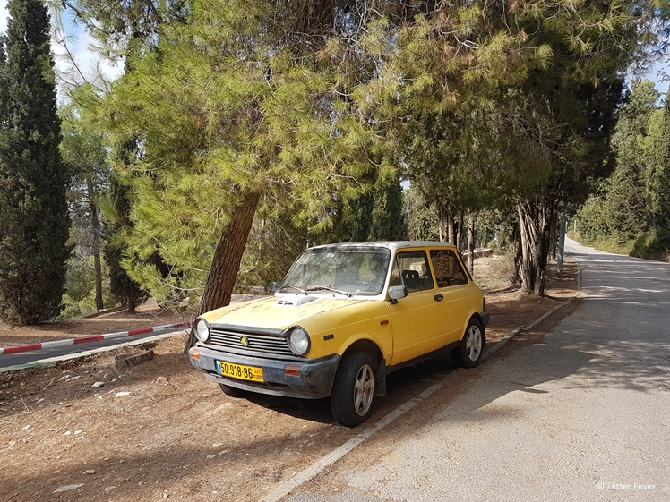 If you decide to rent a car in Israel, you may want to get a newer one than this old ride