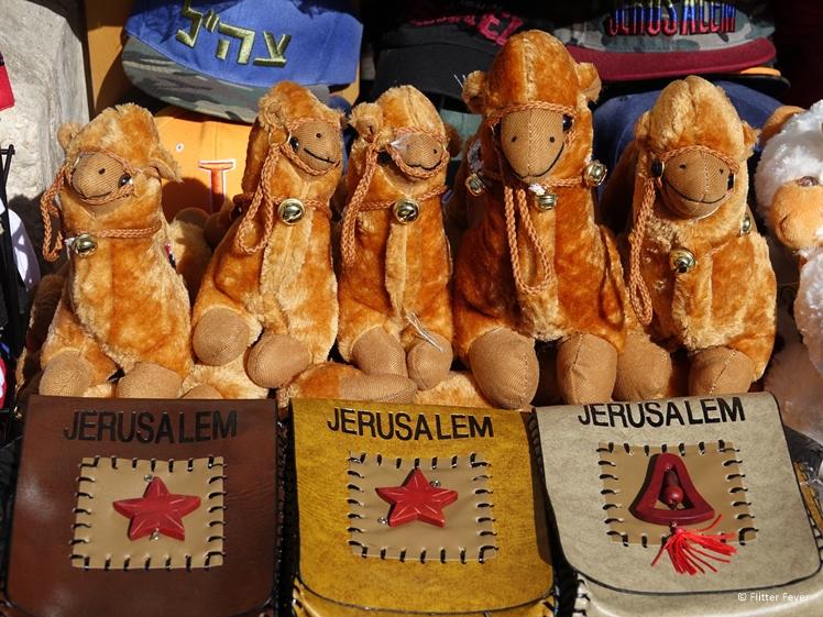 Jerusalem souvenirs for sale at Jerusalem Old City Bazar