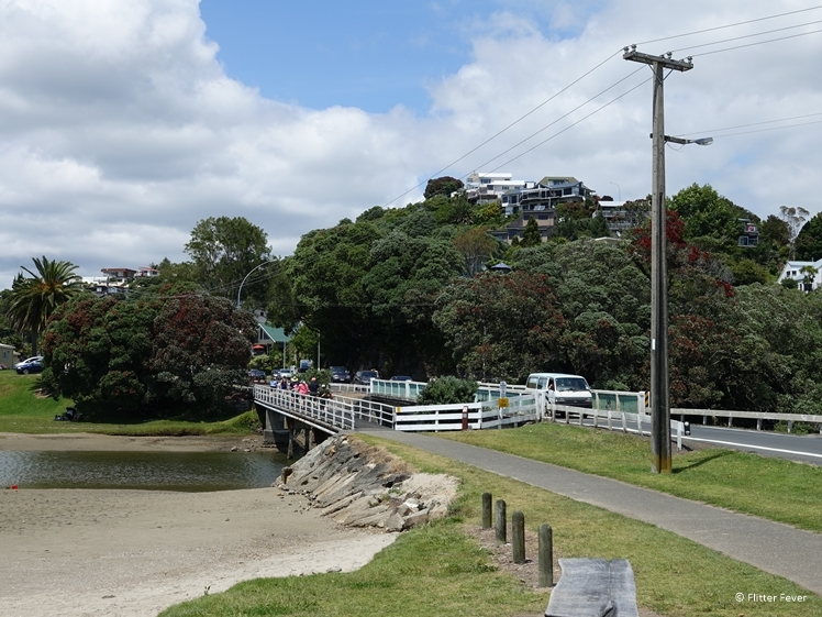 Single lane bridge of Tairua, Coromandel Peninsula, Highway 25 New Zealand