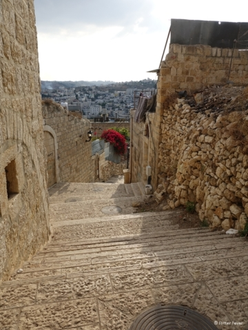 Stone stairs that exude historic atmosphere in Bethlehem