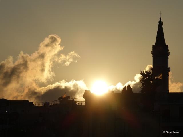 Sunset at Jerusalem seen from Austrian Hospice