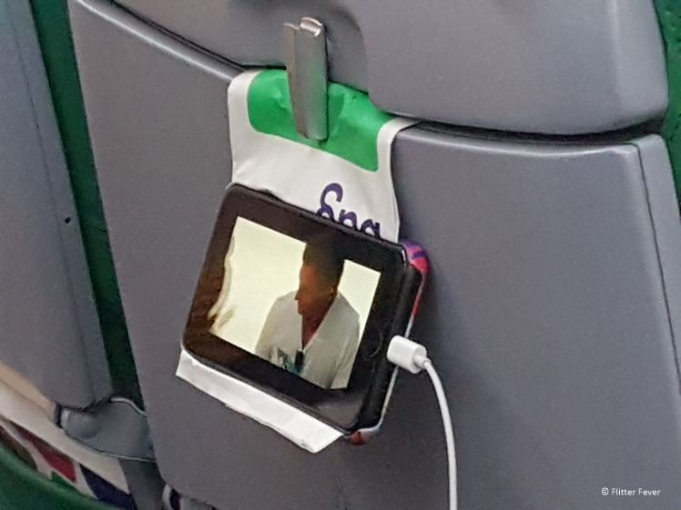 Travel hack watch your favorite TV series in airplane with smartphone