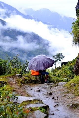 Nepal walking path mountains bucket list