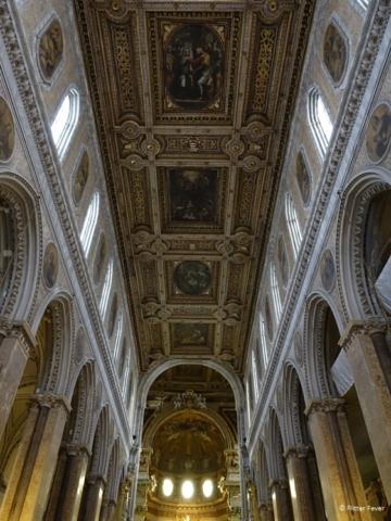 Duomo di Napoli Naples Cathedral ceiling