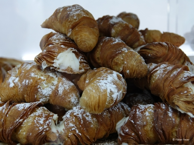 Sfogliatella thin layed pastry from Naples street food