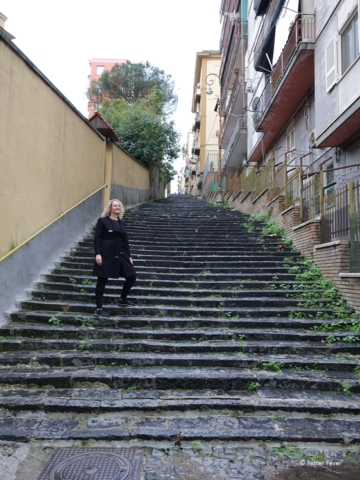 Steep stairs in Naples