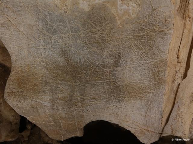 Ancient wall painting at Lod Cave