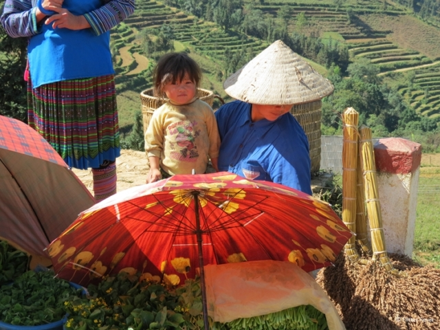 Can Cao Market near Sapa Vietnam