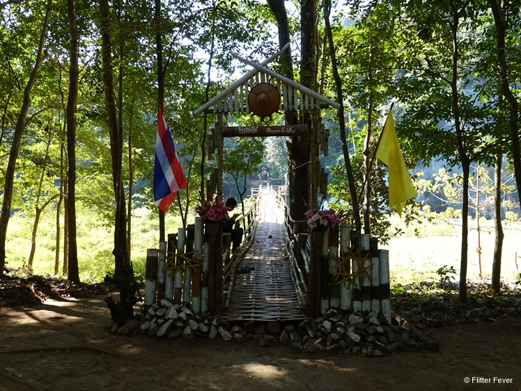 Happy Bridge towards bamboo temple near Lod Cave