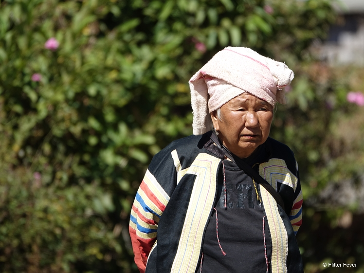 Local woman in Ban Cha Bo, Northern Thailand