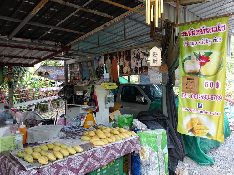 Mango sticky rice food stall on Bang Kachao