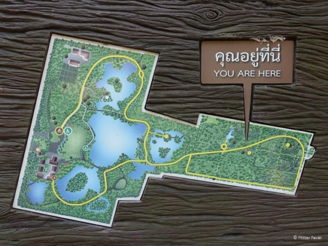 Map of Sri Nakhon Khuean Khan Park and Botanical Garden on Bang Kachao island Bangkok