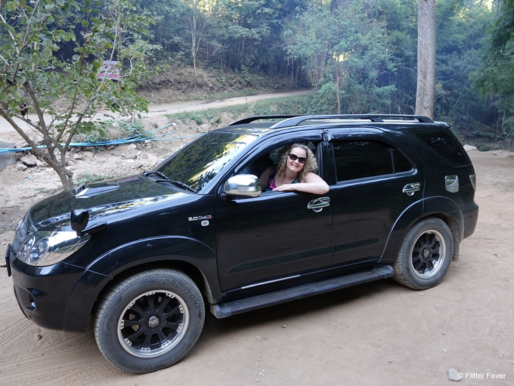 Our big black SUV with driver that took us to Lod Cave, Ban Cha Bo, Pai etc.