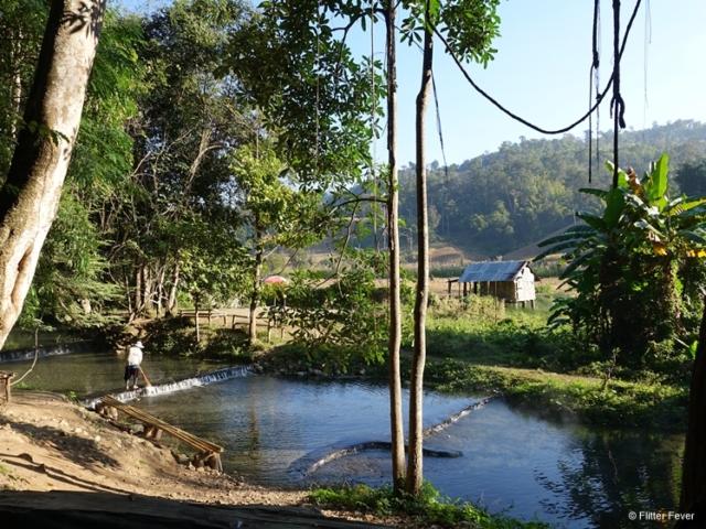 Peaceful hot spring near Pai Thailand