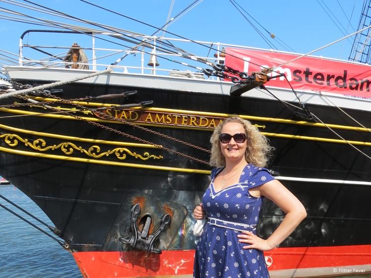 Admiring the stunning Stad Amsterdam ship at Sail Amsterdam 2015
