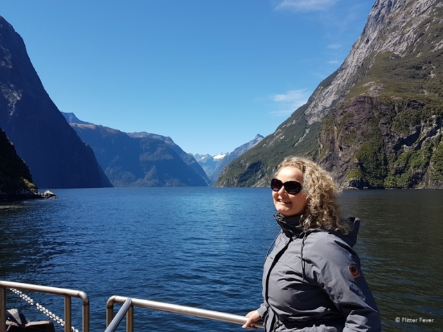 Boat ride at the Milford Sound New Zealand