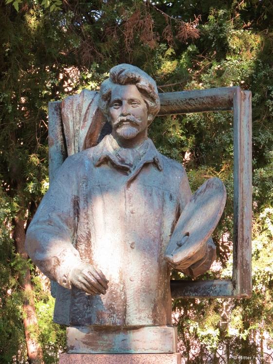 Bust of Painter I. Repin in Krasnodar