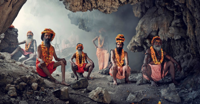 Hindu men in Haridwar, India by Jimmy Nelson