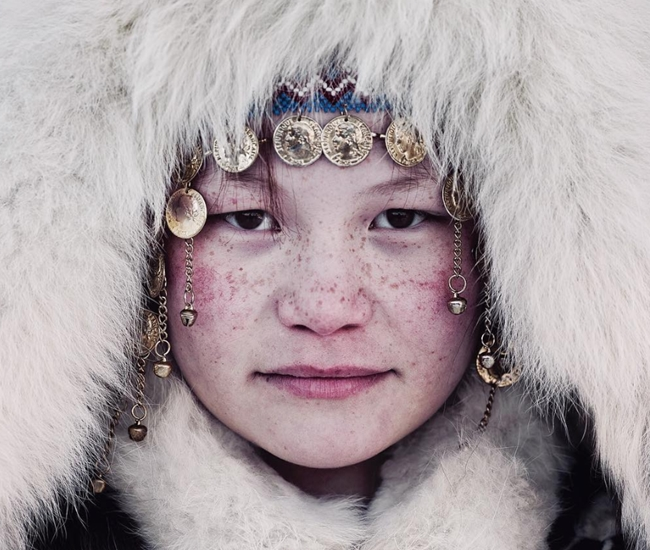 Nenets girl in Russia by Jimmy Nelson